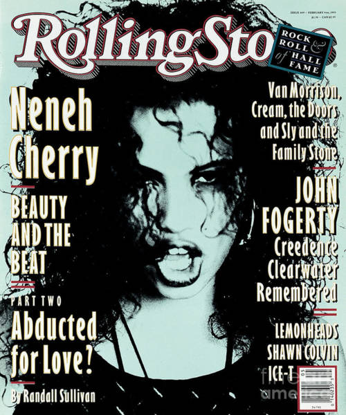 Cherry Photograph - Rolling Stone Cover - Volume #649 - 2/4/1993 - Neneh Cherry by Ellen Von Unwerth