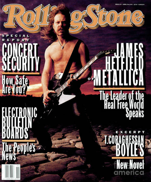 James Photograph - Rolling Stone Cover - Volume #654 - 4/15/1993 - James Hetfield by Mark Seliger