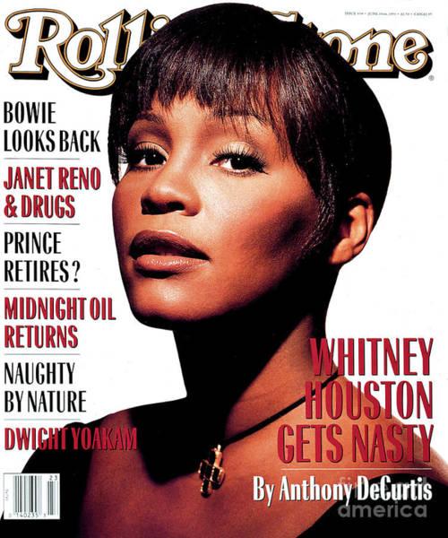 Rolling Stone Cover - Volume #658 - 6/10/1993 - Whitney Houston Art Print