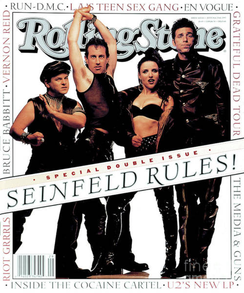 Roll Photograph - Rolling Stone Cover - Volume #660 - 7/8/1993 - Cast Of Seinfeld by Mark Seliger