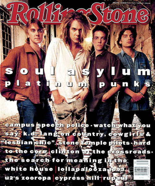 Soul Wall Art - Photograph - Rolling Stone Cover - Volume #662 - 8/5/1993 - Soul Asylum by Mark Seliger