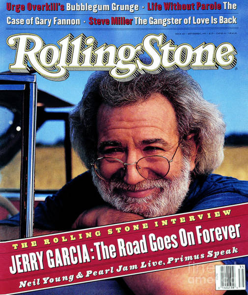 Wall Art - Photograph - Rolling Stone Cover - Volume #664 - 9/2/1993 - Jerry Garcia by Mark Seliger