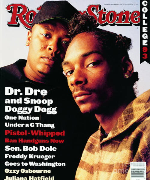 Wall Art - Photograph - Rolling Stone Cover - Volume #666 - 9/30/1993 - Dr. Dre And Snoop Doggy Dog by Mark Seliger