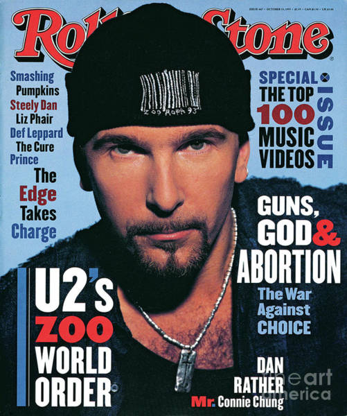 Edge Photograph - Rolling Stone Cover - Volume #667 - 10/14/1993 - The Edge by Andrew MacPherson
