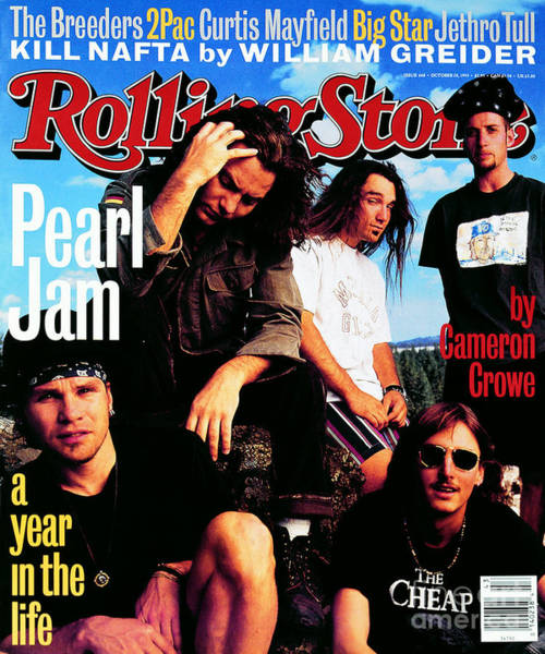 Stone Wall Art - Photograph - Rolling Stone Cover - Volume #668 - 10/28/1993 - Pearl Jam by Mark Seliger