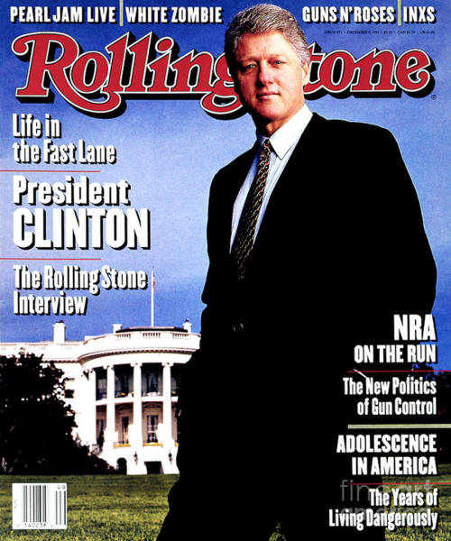 Bill Photograph - Rolling Stone Cover - Volume #671 - 12/9/1993 - Bill Clinton by Mark Seliger