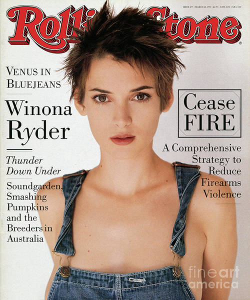 Wall Art - Photograph - Rolling Stone Cover - Volume #677 - 3/10/1994 - Winona Ryder by Herb Ritts