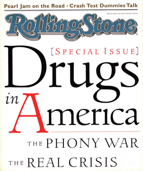 In Photograph - Rolling Stone Cover - Volume #681 - 5/5/1994 - Drugs In America by I.P. Daley