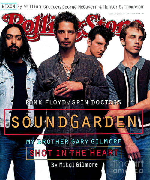 Roll Photograph - Rolling Stone Cover - Volume #684 - 6/16/1994 - Soundgarden by Mark Seliger