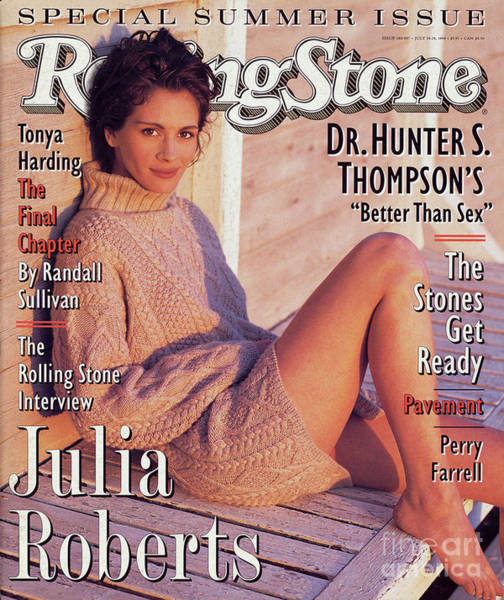 Wall Art - Photograph - Rolling Stone Cover - Volume #686 - 6/14/1994 - Julia Roberts by Herb Ritts