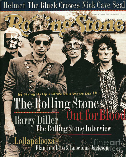 Wall Art - Photograph - Rolling Stone Cover - Volume #689 - 8/25/1994 - Rolling Stones by Anton Corbijn