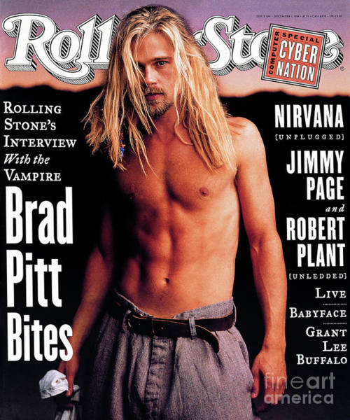 Roll Photograph - Rolling Stone Cover - Volume #696 - 12/1/1994 - Brad Pitt by Mark Seliger