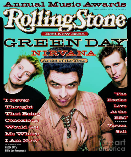 Green Day Photograph - Rolling Stone Cover - Volume #700 - 1/26/1995 - Green Day by Dan Winters