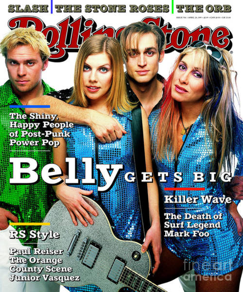 Rolling Stone Cover - Volume #706 - 4/20/1995 - Belly Art Print