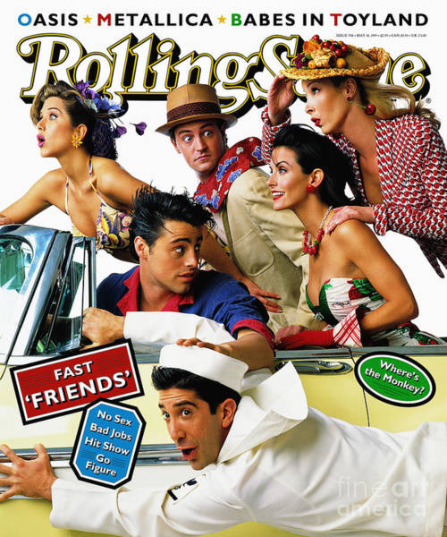 Cast Photograph - Rolling Stone Cover - Volume #708 - 5/18/1995 - Cast Of Friends by Mark Seliger