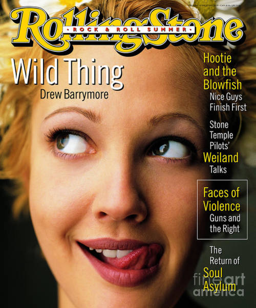 Drawn Wall Art - Photograph - Rolling Stone Cover - Volume #710 - 6/15/1995 - Drew Barrymore by Mark Seliger
