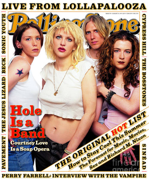 Hole Wall Art - Photograph - Rolling Stone Cover - Volume #715 - 8/24/1995 - Hole by Mark Seliger