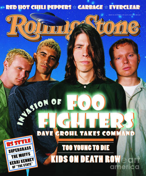 Fighter Photograph - Rolling Stone Cover - Volume #718 - 10/5/1995 - Foo Fighters  by Dan Winters