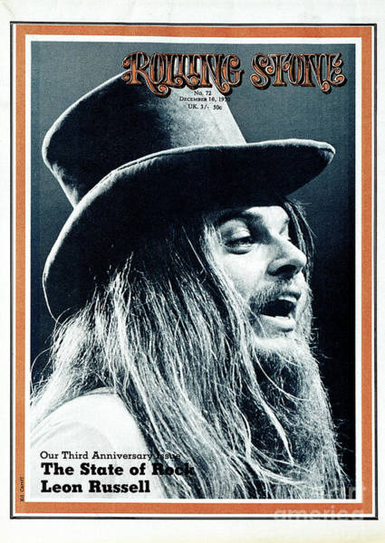 Wall Art - Photograph - Rolling Stone Cover - Volume #72 - 12/10/1970 - Leon Russell by Ed Caraeff