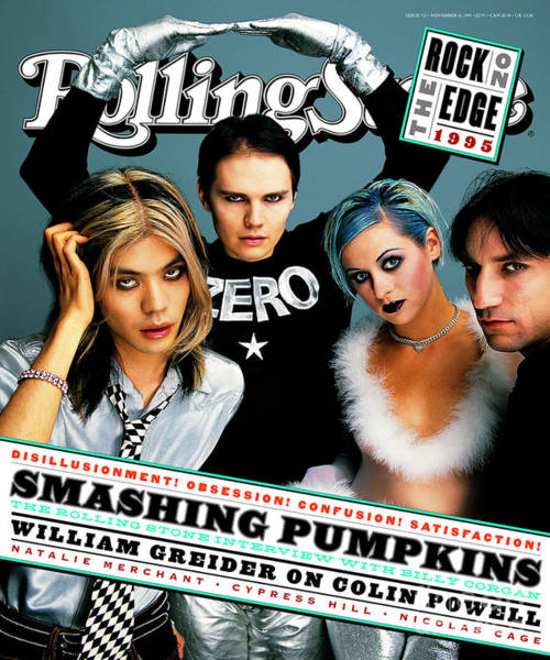 Pumpkins Wall Art - Photograph - Rolling Stone Cover - Volume #721 - 11/16/1995 - Smashing Pumpkins by Mark Seliger