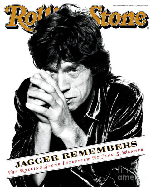Wall Art - Photograph - Rolling Stone Cover - Volume #723 - 12/14/1995 - Mick Jagger by Peter Lindbergh