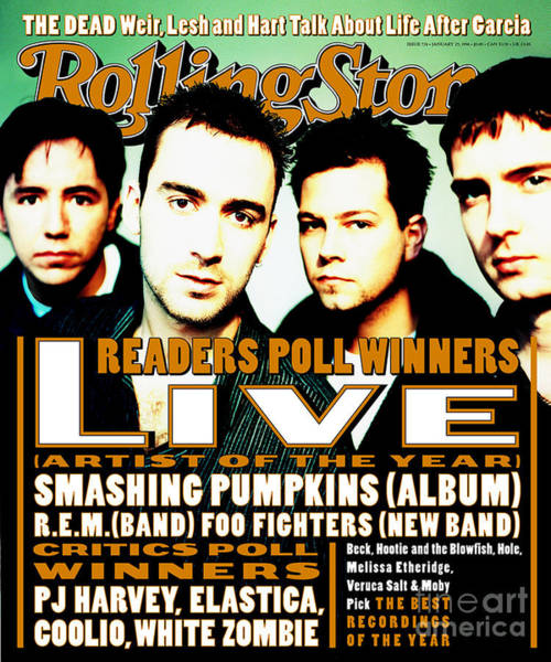 Live Wall Art - Photograph - Rolling Stone Cover - Volume #726 - 1/25/1996 - Live by Julian Broad