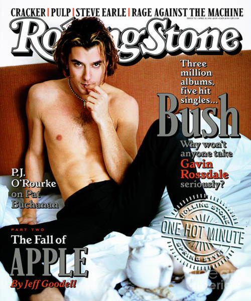 Wall Art - Photograph - Rolling Stone Cover - Volume #732 - 4/18/1996 - Gavin Rossdale by Mark Seliger
