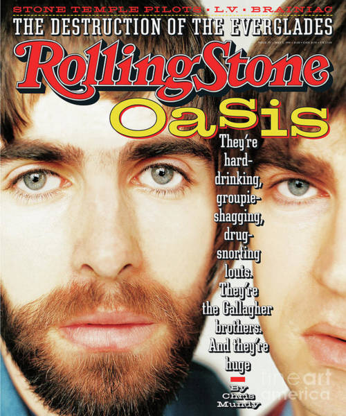 Nathaniel Photograph - Rolling Stone Cover - Volume #733 - 5/2/1996 - Liam And Noel Gallagher by Nathaniel Goldberg