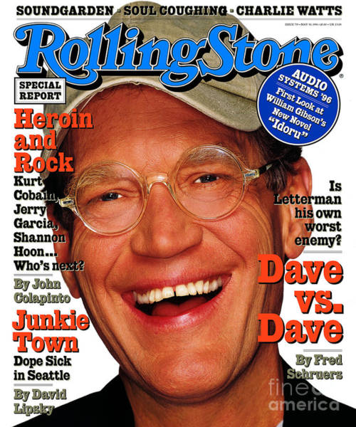 Wall Art - Photograph - Rolling Stone Cover - Volume #735 - 5/30/1996 - David Letterman by Albert Watson