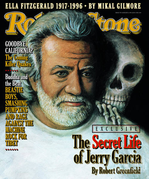 Wall Art - Photograph - Rolling Stone Cover - Volume #740 - 8/8/1996 - Jerry Garcia by Paul Davis