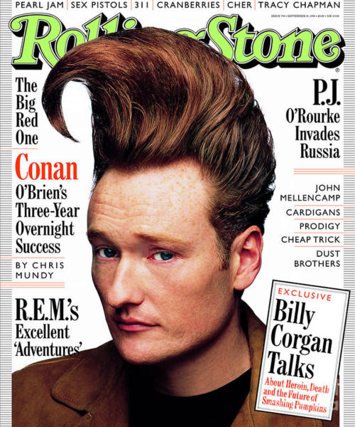 Conan Photograph - Rolling Stone Cover - Volume #743 - 9/19/1996 - Conan O'brien by Mark Seliger