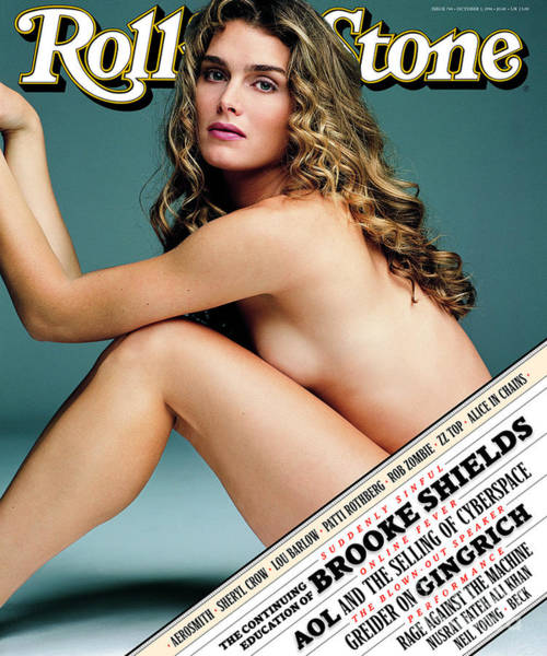 Shield Photograph - Rolling Stone Cover - Volume #744 - 10/3/1996 - Brooke Shields by Mark Seliger
