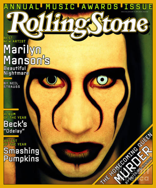 Marilyn Photograph - Rolling Stone Cover - Volume #752 - 1/23/1997 - Marilyn Manson by Matt Mahurin