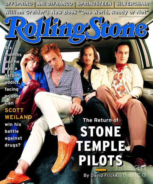 Wall Art - Photograph - Rolling Stone Cover - Volume #753 - 2/23/1997 - Stone Temple Pilots by Mark Seliger