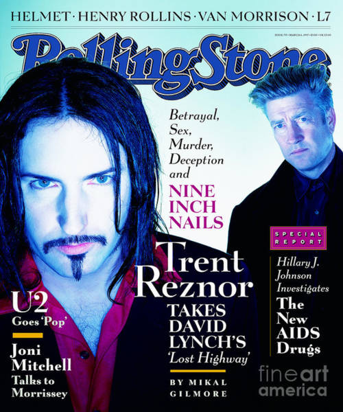 Wall Art - Photograph - Rolling Stone Cover - Volume #755 - 3/6/1997 - Trent Reznor And David Lynch by Dan Winters