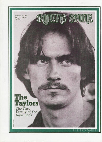 James Photograph - Rolling Stone Cover - Volume #76 - 2/28/1971 - James Taylor by Baron Wolman