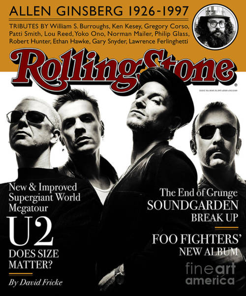 U2 Photograph - Rolling Stone Cover - Volume #761 - 5/29/1997 - U2 by Albert Watson