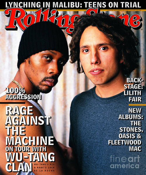 Wall Art - Photograph - Rolling Stone Cover - Volume #768 - 9/4/1997 - Wu-tang Clan And Rage Against The Machine by Mark Seliger
