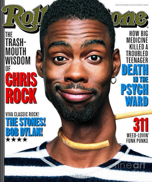 Wall Art - Photograph - Rolling Stone Cover - Volume #770 - 10/2/1997 - Chris Rock by Mark Seliger