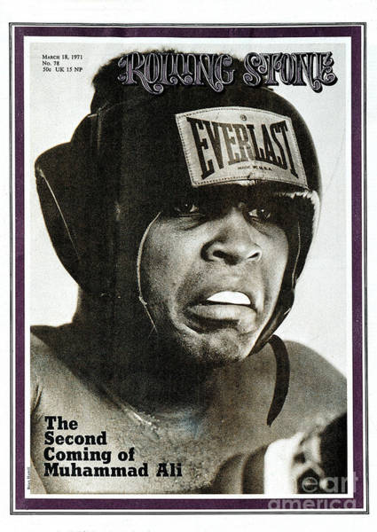 Boxing Photograph - Rolling Stone Cover - Volume #78 - 3/18/1971 - Muhammad Ali by Brian Hamill