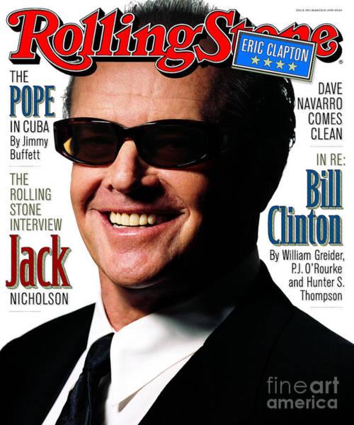 Celebrities Photograph - Rolling Stone Cover - Volume #782 - 3/19/1998 - Jack Nicholson by Albert Watson