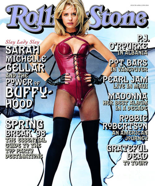 Sarah Photograph - Rolling Stone Cover - Volume #783 - 4/2/1998 - Sarah Michelle Gellar by Mark Seliger
