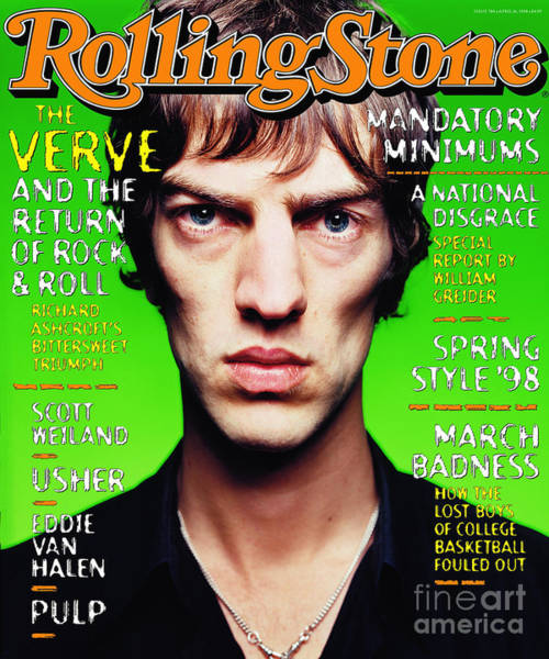 Wall Art - Photograph - Rolling Stone Cover - Volume #784 - 4/25/1998 - The Verve by Mark Seliger