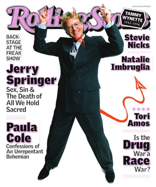 Rolling Stone Cover - Volume #786 - 5/14/1998 - Jerry Springer Art Print