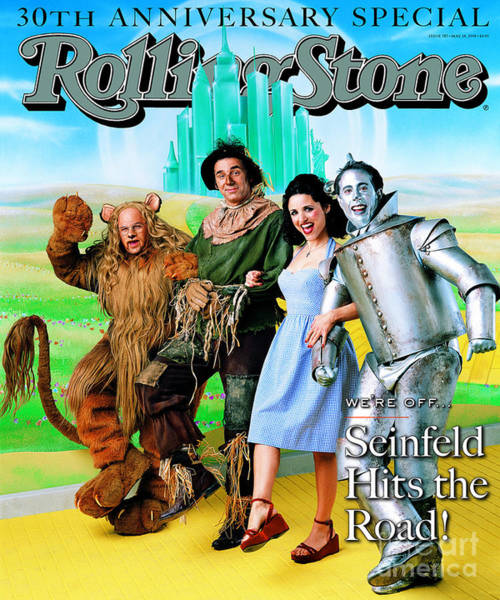 Cast Photograph - Rolling Stone Cover - Volume #787 - 5/28/1998 - Cast Of Seinfeld by Mark Seliger