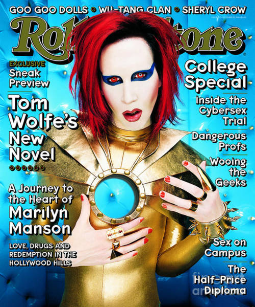 Wall Art - Photograph - Rolling Stone Cover - Volume #797 - 10/15/1998 - Marilyn Manson by Mark Seliger