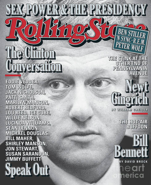 President Photograph - Rolling Stone Cover - Volume #799 - 11/12/1998 - President Clinton by Mark Seliger