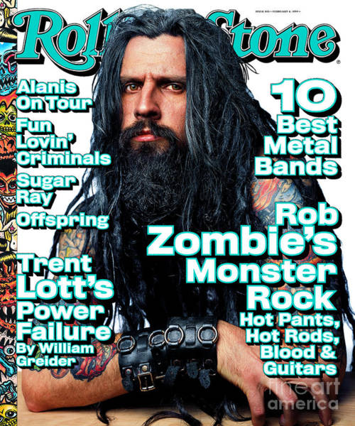 Zombies Photograph - Rolling Stone Cover - Volume #805 - 2/4/1999 - Rob Zombie by Mark Seliger