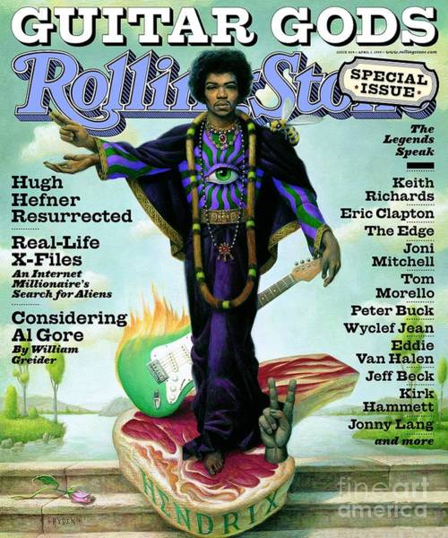 Wall Art - Photograph - Rolling Stone Cover - Volume #809 - 4/1/1999 - Jimi Hendrix by Mark Ryden
