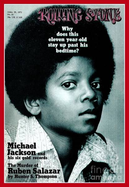 Roll Photograph - Rolling Stone Cover - Volume #81 - 4/29/1971 - Michael Jackson by Henry Diltz